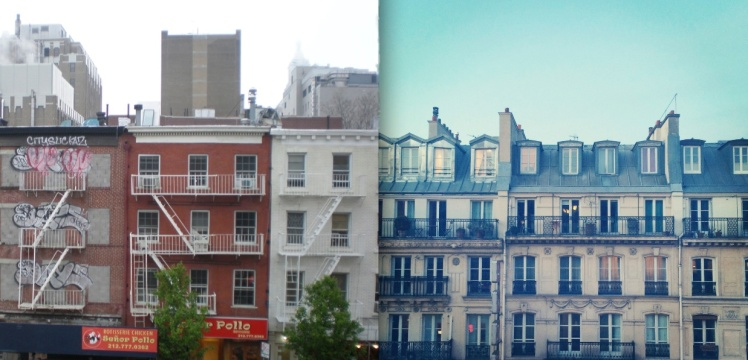 View from my windows, NYC vs Paris